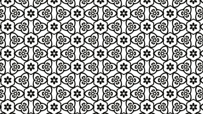 Black and White Decorative Background Pattern