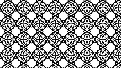 Black and White Geometric Seamless Pattern Wallpaper Image