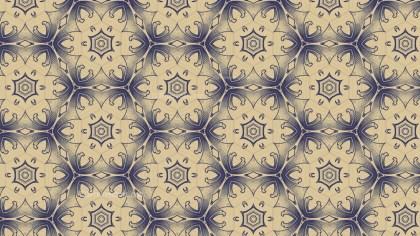 Blue and Beige Vintage Floral Wallpaper Background