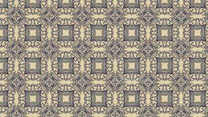 Blue and Beige Vintage Seamless Ornamental Pattern Background