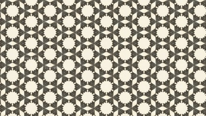 Brown Vintage Decorative Floral Seamless Pattern Wallpaper Design