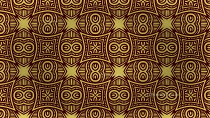 Brown and Gold Vintage Ornamental Pattern Background