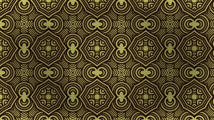 Brown and Gold Vintage Ornamental Seamless Pattern Background Design
