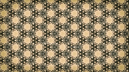 Brown and Green Ornamental Vintage Background Pattern