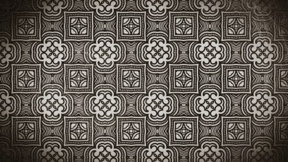 Coffee Brown Vintage Ornament Background Pattern Image