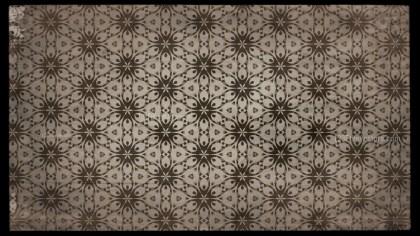Dark Brown Vintage Decorative Floral Pattern Background