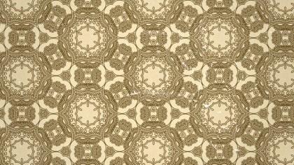 Ecru Vintage Seamless Ornamental Pattern Background