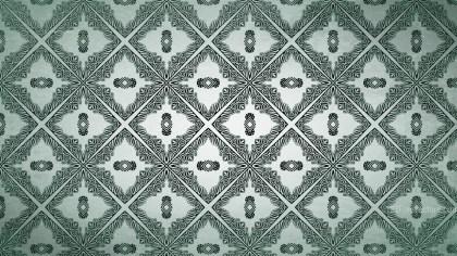Green Vintage Seamless Ornamental Pattern Background