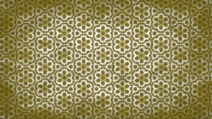 Green and Beige Vintage Decorative Floral Pattern Background