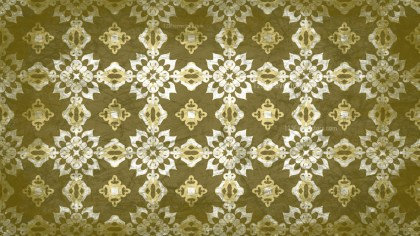 Green and Beige Vintage Decorative Floral Ornament Background Pattern Design Template