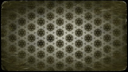 Green and Black Vintage Ornament Background Pattern Image