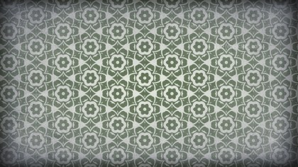 Green and Grey Vintage Decorative Floral Pattern Background