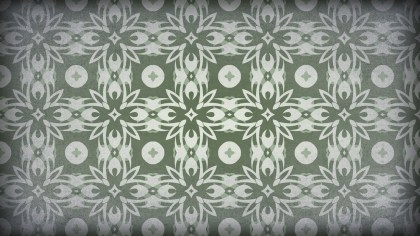 Green and Gray Vintage Decorative Floral Ornament Background Pattern Design Template