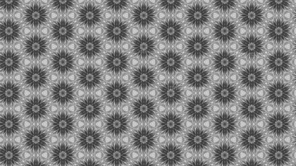 Gray Floral Seamless Pattern Background Template
