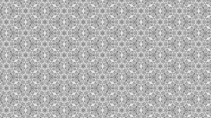 Grey Decorative Seamless Pattern Background