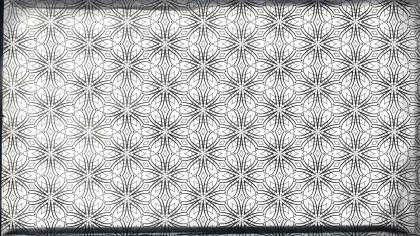 Gray and White Vintage Decorative Floral Seamless Pattern Background Image