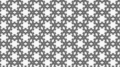 Gray and White Geometric Seamless Ornament Pattern Background
