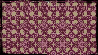 Purple and Beige Vintage Ornament Wallpaper Pattern Design
