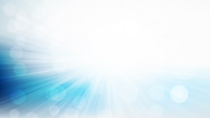 Blue and White Bokeh with Light Burst background Vector Graphic