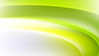 Abstract Green Yellow and White Wave Background Vector Art