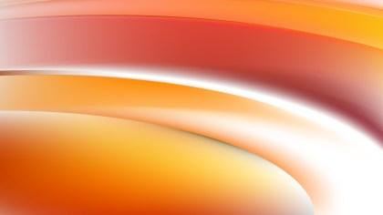 Orange and White Wave Background