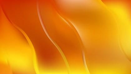 Orange and Yellow Wavy Background Illustration
