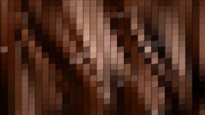Abstract Black and Brown Square Pixel Mosaic Background