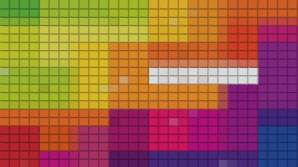 Colorful Square Pixel Mosaic Background