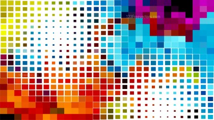 Colorful Square Mosaic Tile Background Vector Illustration