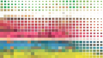 Colorful Square Pixel Mosaic Background Vector Image