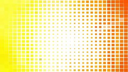 Orange and White Geometric Mosaic Square Background