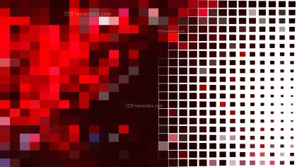 Abstract Red Black and White Square Pixel Mosaic Background