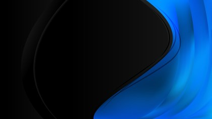 Black and Blue Wave Business Background Vector Illustration