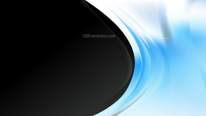 Blue Black and White Wave Business Background