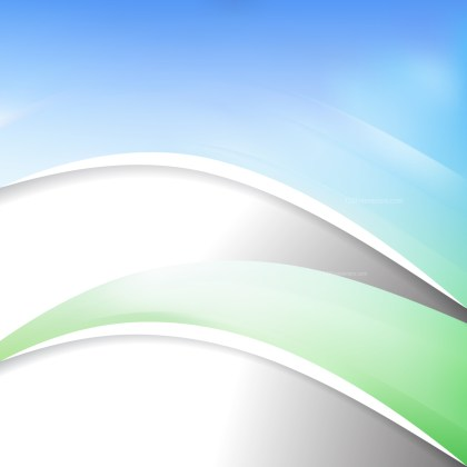 Blue Green and White Wave Business Background