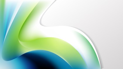 Blue Green and White Wave Business Background Vector Art