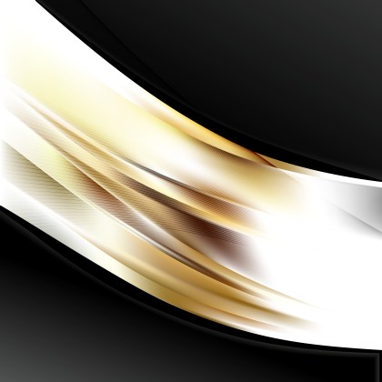 Abstract Brown Black and White Wave Business Background Vector Image