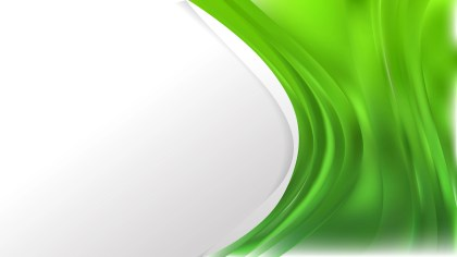 Green Wave Business Background Vector Illustration