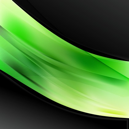 Green and Black Wave Business Background