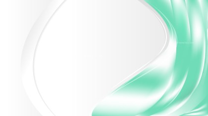 Abstract Green and White Wave Business Background Design Template