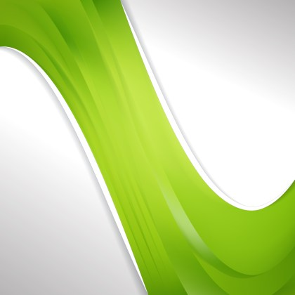 Abstract Lime Green Wave Business Background Design Template