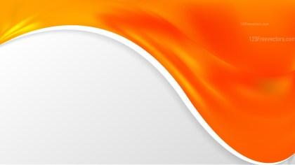 Abstract Orange Wave Business Background Illustration