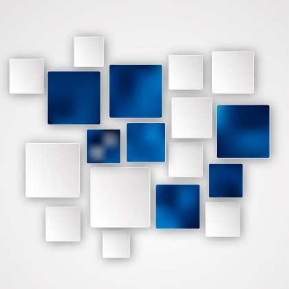 Blue and White Squares Abstract Background Design Template