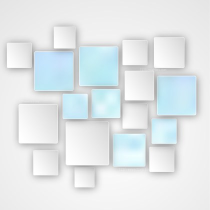 Modern Blue and White Square Background Image