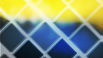 Abstract Blue and Yellow Square Lines Background