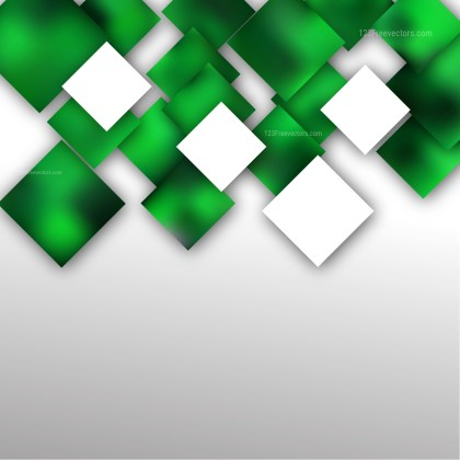 Modern Abstract Green and White Squares Background Illustrator