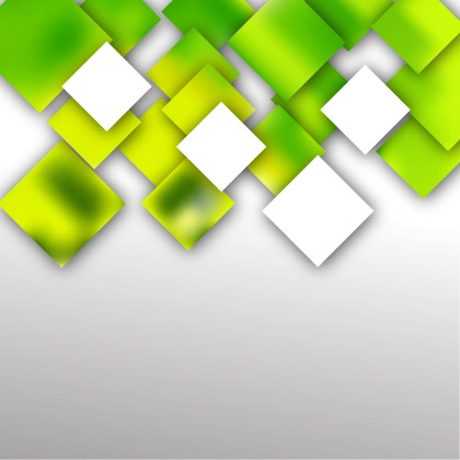 Modern Green Yellow and White Square Background Design Template