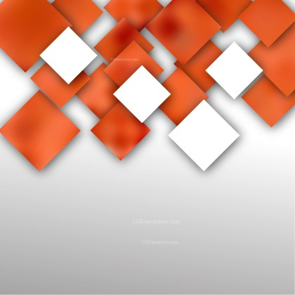 Abstract Orange and White Modern Square Background