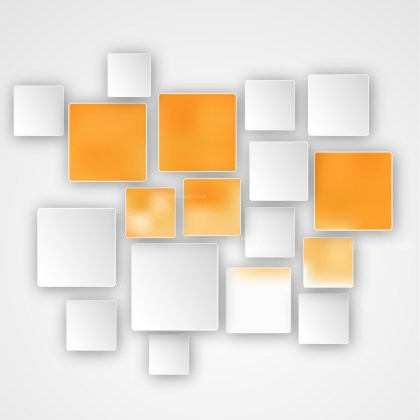 Modern Orange and White Square Abstract Background Vector Illustration