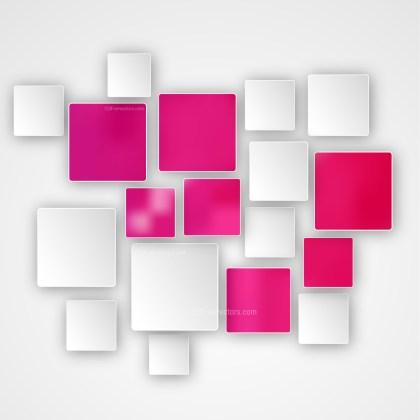 Modern Abstract Pink and White Squares Background Illustrator